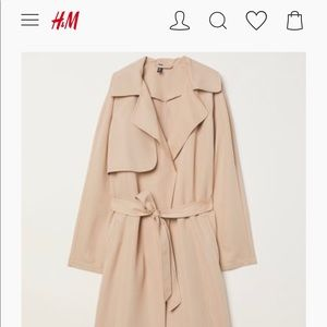 H&M Light Weight Trench Coat NWT